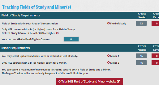 Add a Field of Study, Minor, or even two